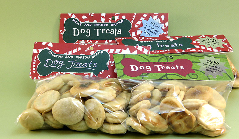 Dog Snacks - Dog biscuits baked for Christmas 2007
